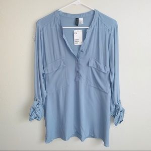 NWT divided blouse